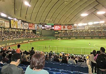 桑田が初めて投げたドーム!